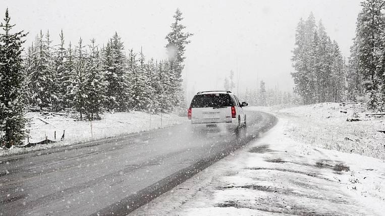 Snow cyclone covered Khabarovsk Territory