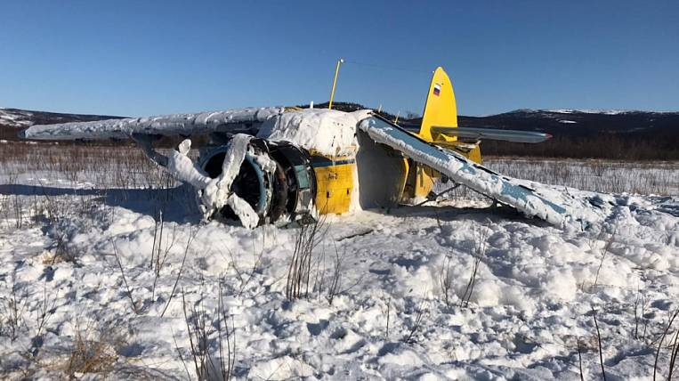 There was a video from the place of hard landing An-2 in Magadan