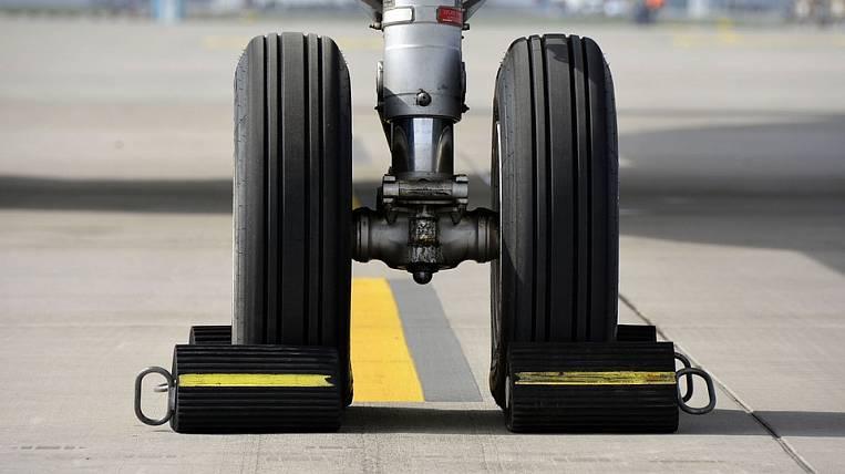 After landing in Yakutsk, the landing gear collapsed