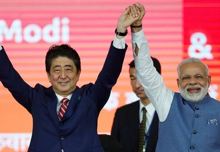 Japan and India looked back at China