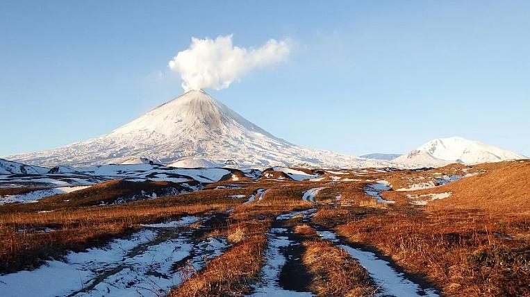 Volcanic eruption began in Kamchatka