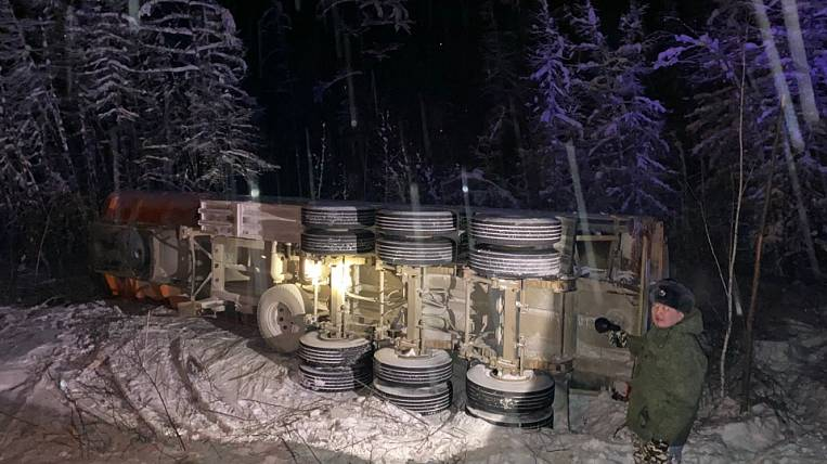 Oil tanker overturned in Yakutia