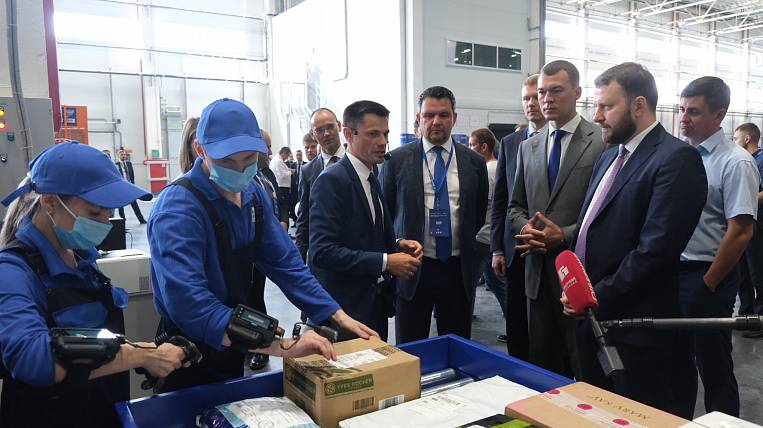 Test launches took place at the logistics post center in Khabarovsk