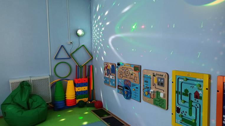 A sensory room according to the national project was equipped in a kindergarten in the Amur region