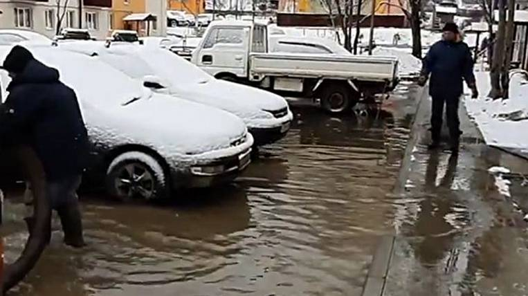 The rain flooded the museum and residential buildings on Sakhalin