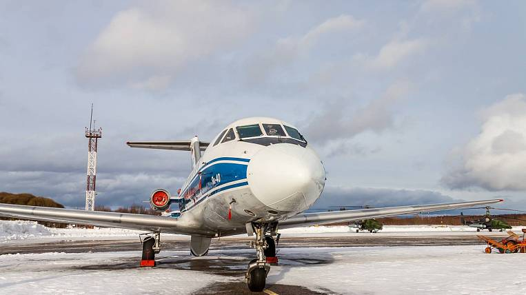 Yak-40 sat in Kamchatka on a strip occupied by another plane