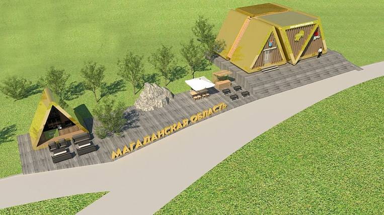 Guests of the Kolyma pavilion at VEF-21 will enter the golden triangle
