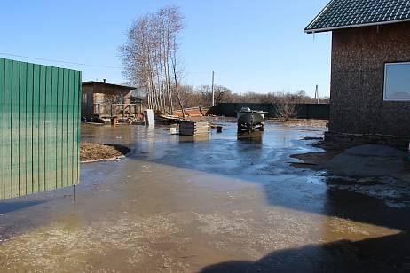The village was flooded in the suburbs of Khabarovsk