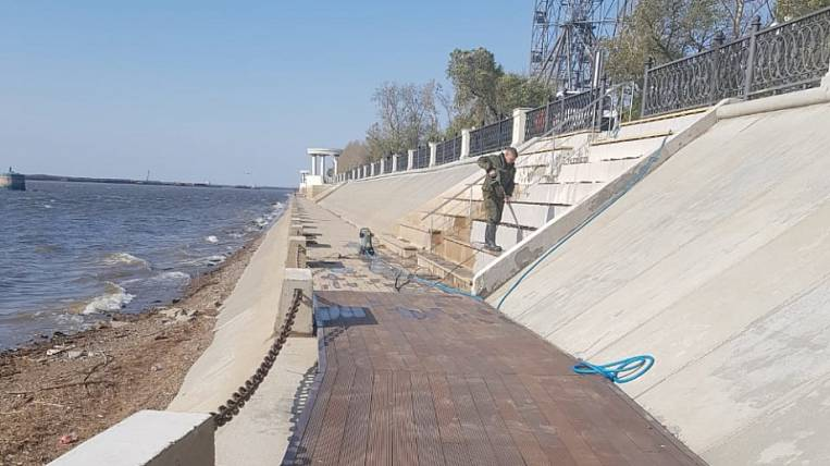 Flood-affected embankment in Khabarovsk will be restored in November