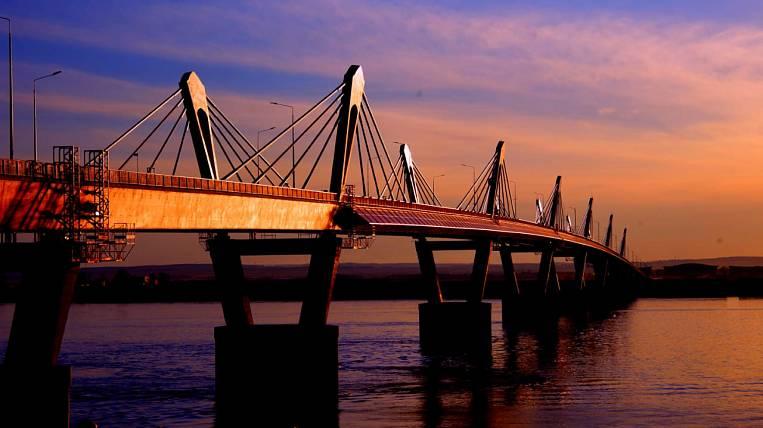 Checkpoint for the Blagoveshchensk-Heihe bridge built in the Amur region
