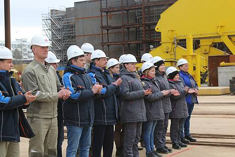 The first product tanker was laid down at the Zvezda shipyard in Primorye