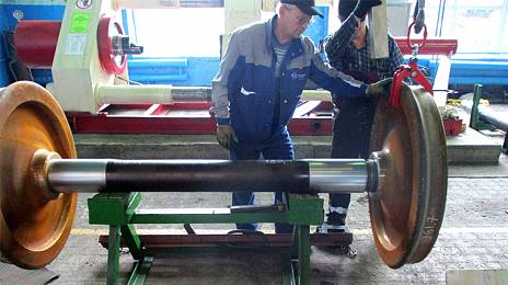 The train started: in the Amur region has earned a car-wheel shop
