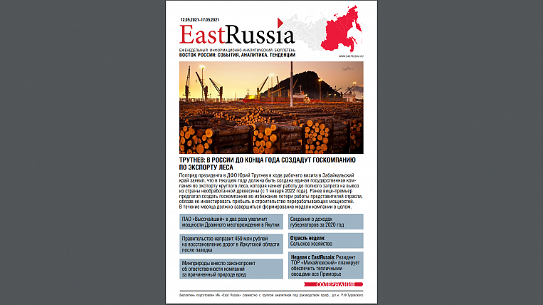 EastRussia Bulletin: the funds of the National Welfare Fund can be used to modernize the Far Eastern energy sector