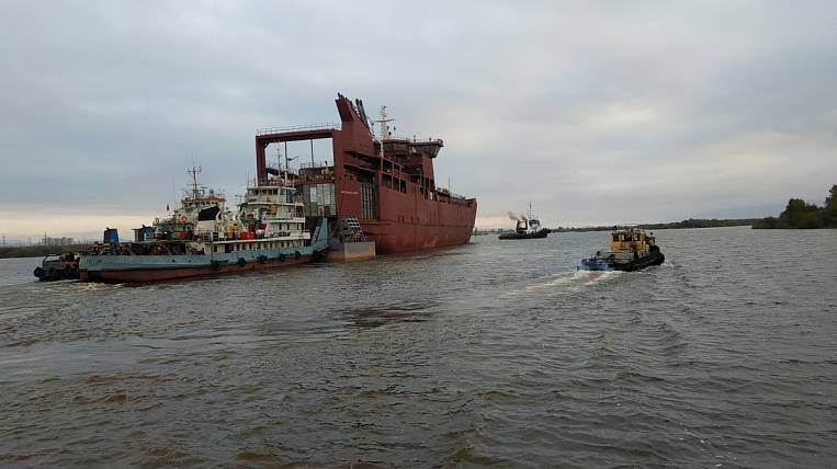 The first ferry for Sakhalin was built in Khabarovsk
