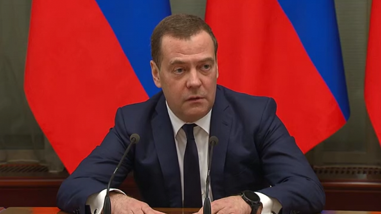 The Russian government has resigned in full force