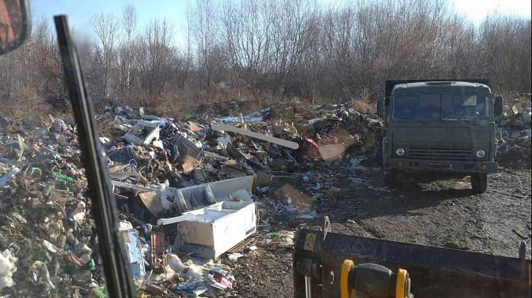 The Ministry of Defense liquidates an illegal landfill in the Khabarovsk Territory