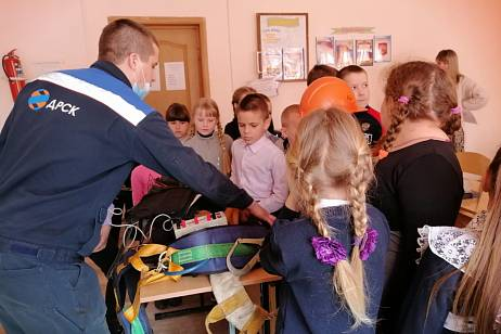 Electrical safety classes started by power engineers of the DRSK in schools of Primorye