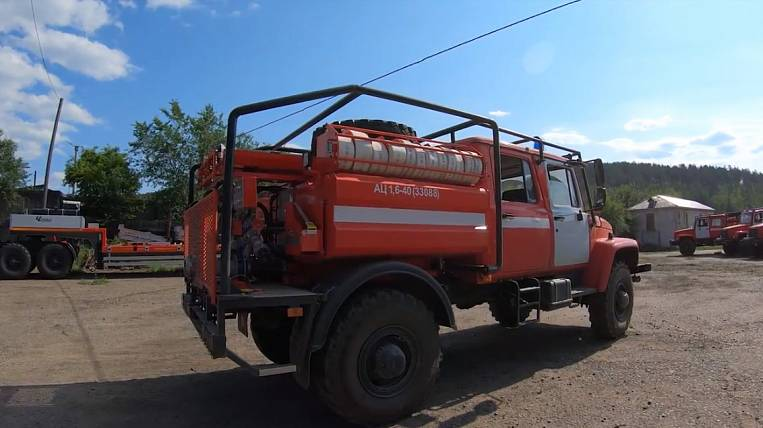 Forest fire equipment continues to arrive in Transbaikalia