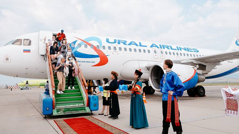 The first charter with tourists took Buryatia