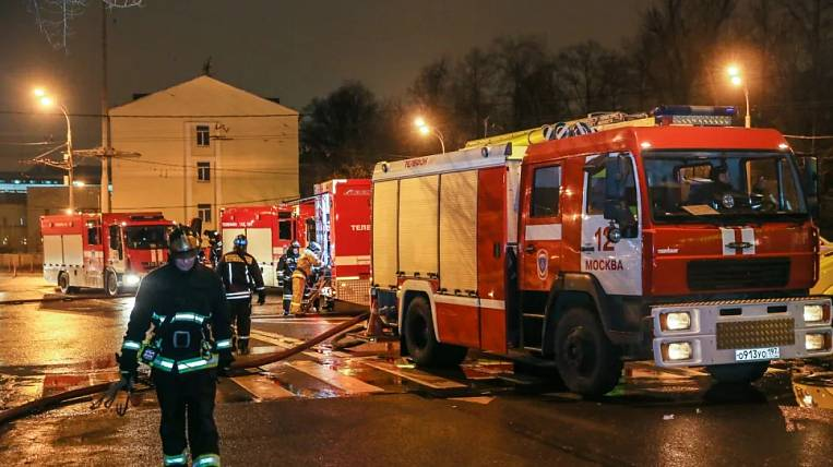 Students had to be evacuated due to a fire in a dormitory on Sakhalin