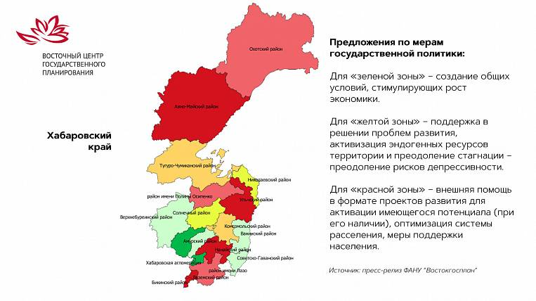 """Experts from Vostokgosplan identified """"red zones"""" on the territory of the Khabarovsk Territory and suggested"""