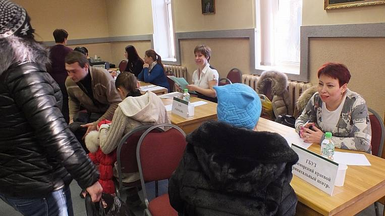At the job fair in Primorye, people with disabilities