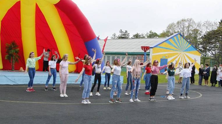The first children's camp since the beginning of the pandemic was opened on Sakhalin
