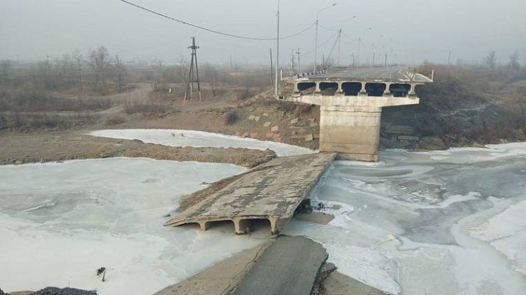 In Chita, the collapsed bridge will be restored for 440 million rubles
