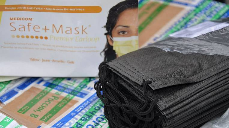 An illegal batch of medical masks detained at the border in Primorye