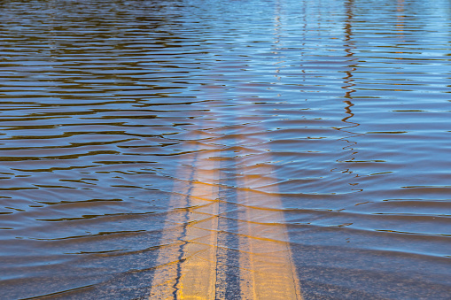 The river flooded the federal highway in the Irkutsk region