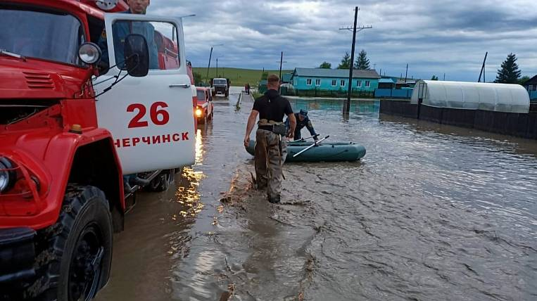 More than fifty houses flooded in Transbaikalia