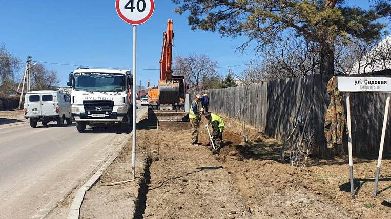 The central street Chigirey began to be repaired in the Amur region