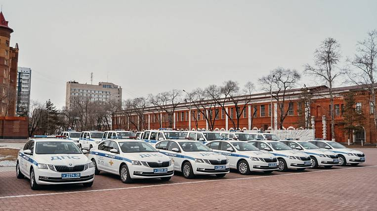 Amur region received 77 patrol cars on the national project