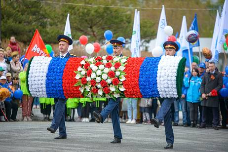 Together with the residents of Wrangel, Vostochny Port celebrated Victory Day