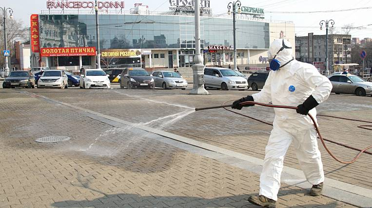 They want to connect the military to the disinfection of streets in Khabarovsk