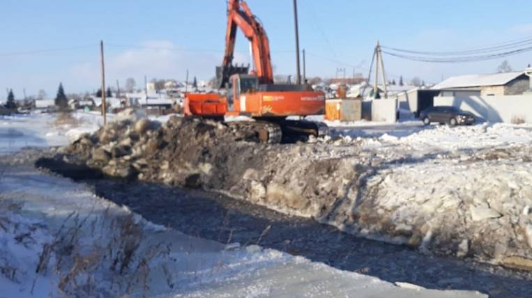 In Tulun removed the threat of flooding of residential buildings