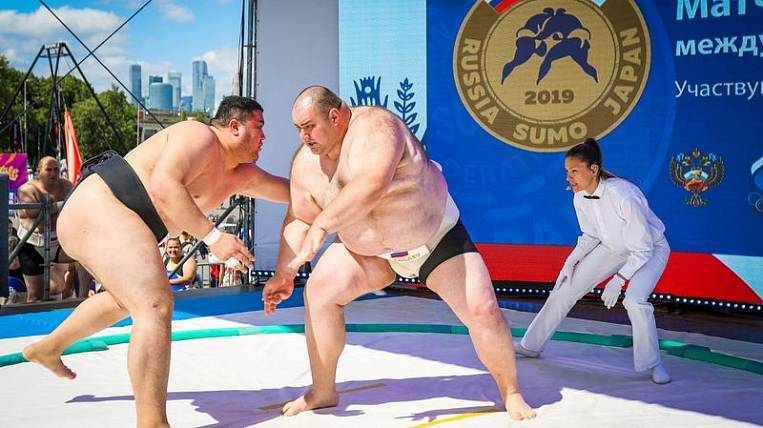 Fights of the strongest sumo wrestlers will be held at the WEF-2019