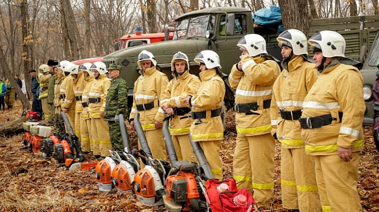 Fire regime announced in Primorye