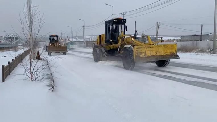 Abnormal snowfall in Yakutsk lasts three days