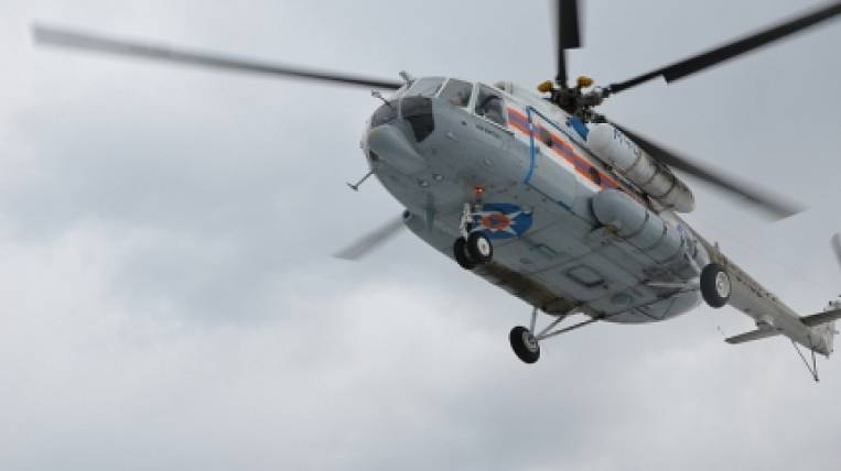 To extinguish forest fires, a helicopter of the Ministry of Emergency Situations in Transbaikalia was required